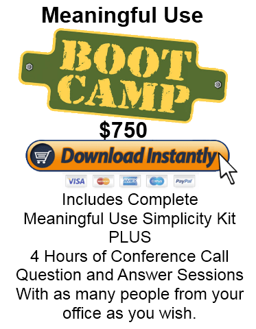 Boot Camp Meaningful Use Made Easy